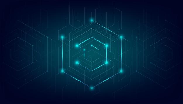 Linee astratte e punti collegano lo sfondo. tecnologia di connessione dati digitali e concetto di big data.