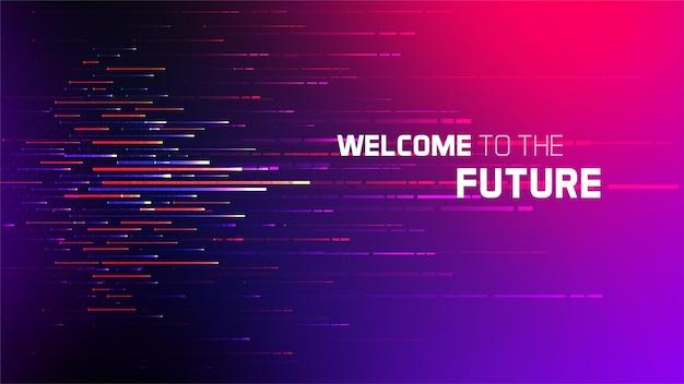 Le linee astratte strutturano il fondo futuristico di vettore carta da parati di concetto di tecnologia dell'innovazione