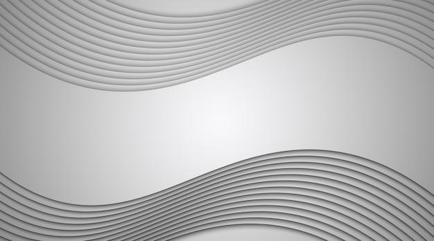 Linee astratte e illustrazione dell'onda su sfondo grigio