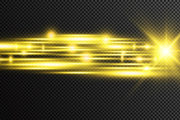 Linee astratte con effetto luce bagliore