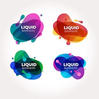 Collezione di banner liquidi astratti