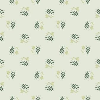 Modello senza cuciture astratto piccolo ornamento botanico in stile doodle