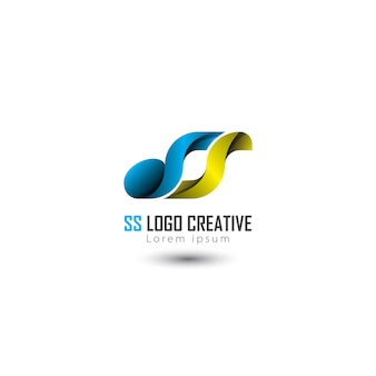 Abstract logo iniziale lettera ss