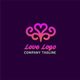 Disegno astratto di logo di amore
