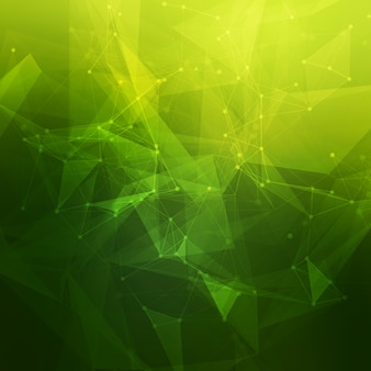 Sfondo astratto poli basso grigio brillante tecnologia. struttura di connessione. sfondo di scienza dei dati. sfondo poligonale. molecola e sfondo di comunicazione.