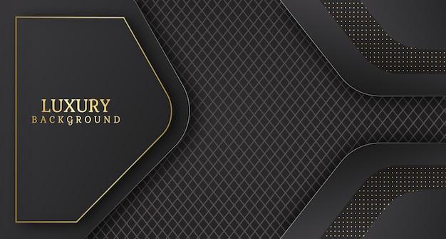 Sfondo astratto banner di lusso con forme geometriche