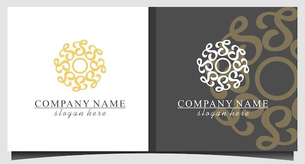 Design del logo astratto di bellezza di lusso