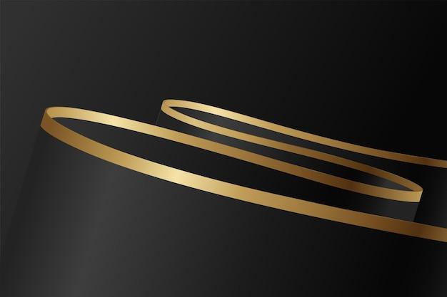 Fondo nero e oro di lusso astratto