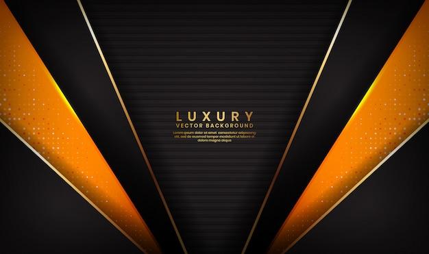 Priorità bassa nera ed arancione di lusso astratta