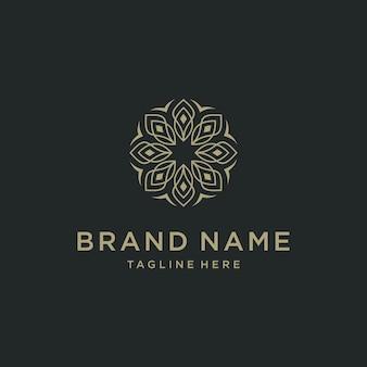 Design astratto di vettore dell'icona del logo del fiore di lusso astratto