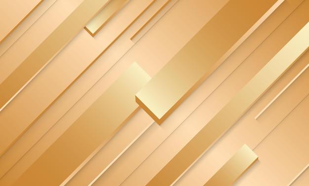 Fondo astratto di lusso delle bande dell'oro. illustrazione vettoriale. design moderno per carta da parati.