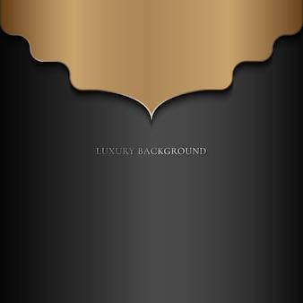 Lusso astratto mandala oro arabesco stile orientale su sfondo nero.