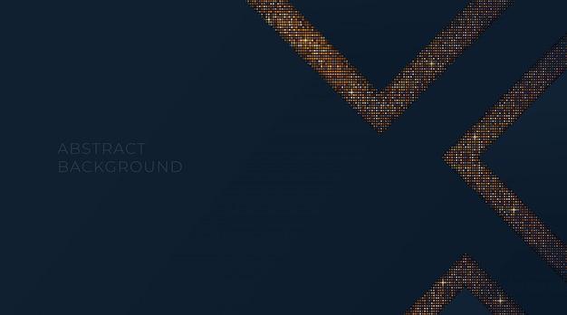 Lusso astratto con quadrati glitter oro, modello per biglietto da visita vip, flyer, invito, sito web. illustrazione di carta da parati dorata.