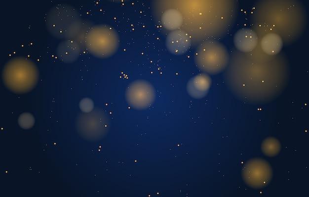 Bokeh magico astratto luci effetto sfondo, nero, glitter oro