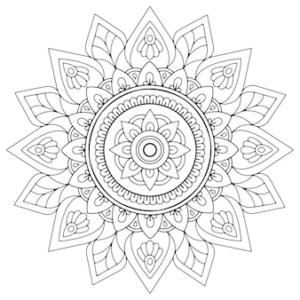 Arabesco mandala astratto per libro da colorare