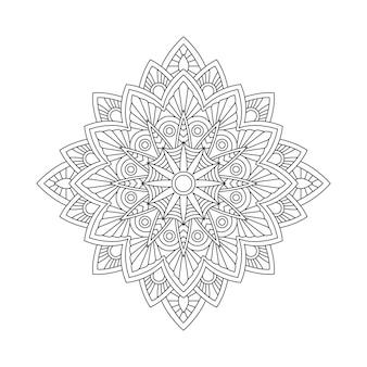 Illustrazione di libro astratta della pagina di coloritura di arabesque della mandala. maglietta . sfondo di carta da parati floreale
