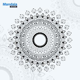 Illustrazione astratta del lineart della mandala