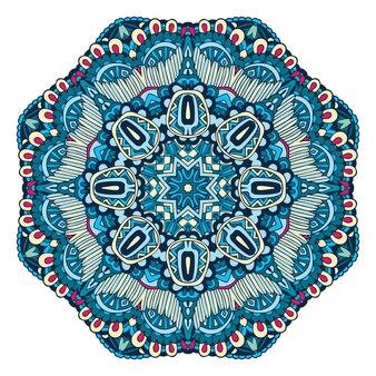 Disegno astratto del fiocco di neve invernale mandala