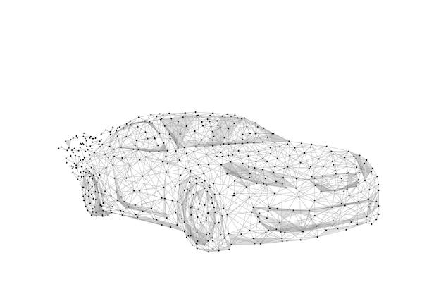 Linea di poltiglia astratta e punto auto