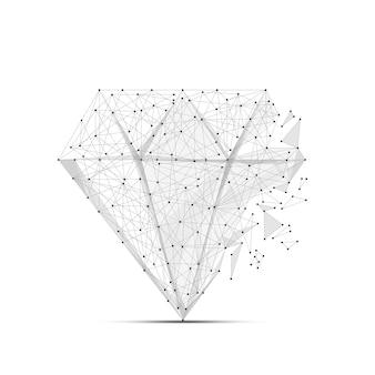Linea di poltiglia astratta e diamante punto sullo sfondo con un'iscrizione cielo stellato o spazio
