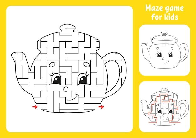 Foglio di lavoro educativo labirinto astratto