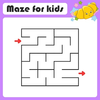 Labirinto astratto gioco per bambini puzzle per bambini stile coon