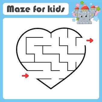 Labirinto astratto gioco per bambini puzzle per bambini