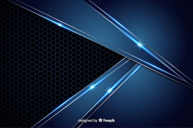 Priorità bassa blu metallica astratta di struttura Vettore Premium