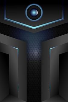 Vettore metallico astratto del fondo di concetto