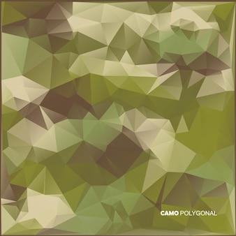 Sfondo astratto mimetico militare fatto di forme geometriche di triangoli. illustrazione.