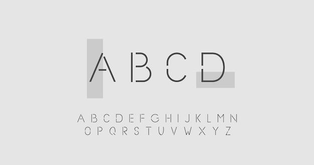 Concetto astratto alfabeto minimo