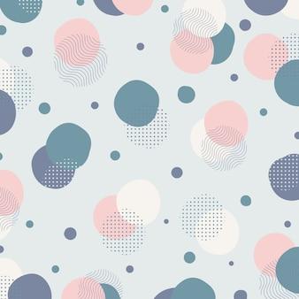 Fondo geometrico del materiale illustrativo di progettazione del modello di colore minimo astratto.