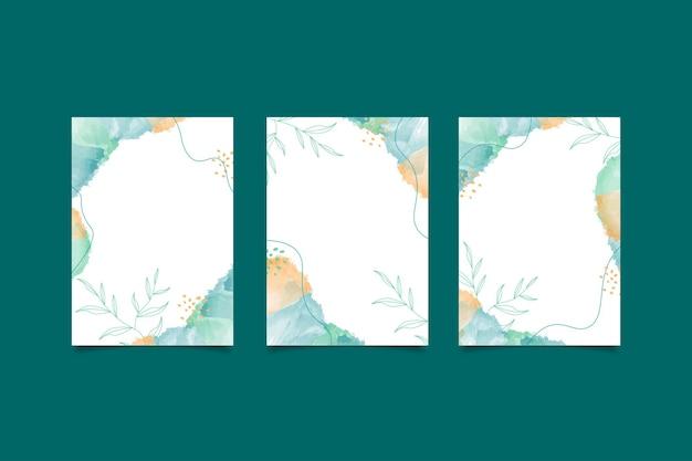 Disegno a mano di copertina minimale astratto