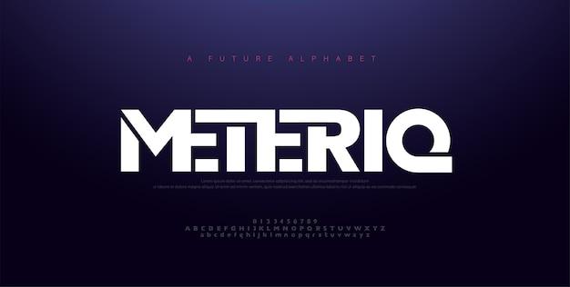 Font alfabeto moderno minimale astratto.