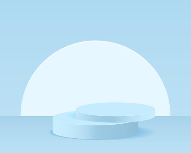 Sfondo astratto scena minima con forme geometriche. design per la presentazione del prodotto.