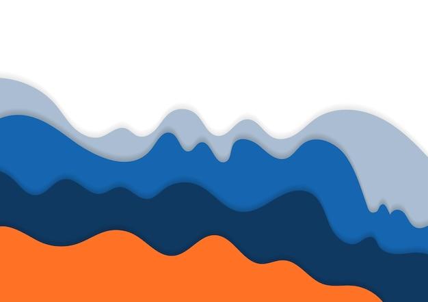 Disegno astratto minimalista di opere d'arte colorate ondulate