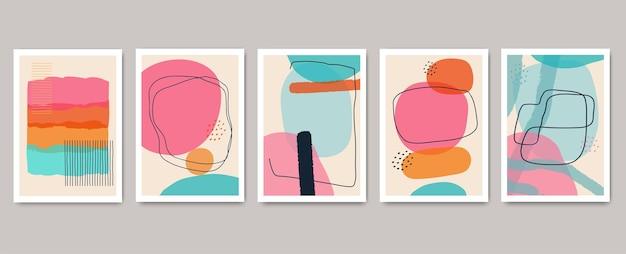 Fondo minimalista astratto del modello geometrico della copertura. design colorato per volantini, brochure, poster, decorazioni murali.