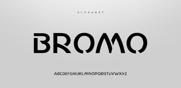Fonte di alfabeto moderno astratto in maiuscolo