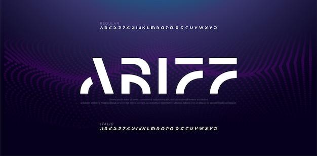 Caratteri alfabeto moderno astratto