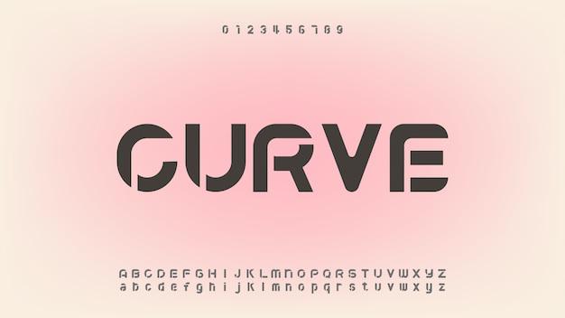 Font alfabeto moderno astratto