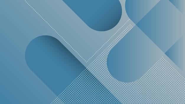 Fondo moderno astratto con linee diagonali ed elemento di memphis e colore sfumato vibrante blu morbido