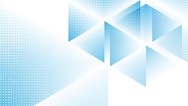 Fondo moderno astratto con l'elemento di semitono e il colore gadient bianco blu di lowpoly