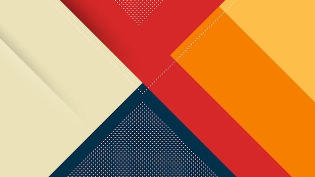 Fondo moderno astratto con linee diagonali di memphis