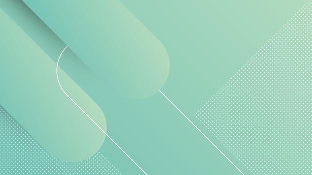 Fondo moderno astratto con elemento di memphis e colore blu sfumato
