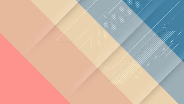 Sfondo moderno astratto con gradiente di colore morbido o pastello ed elemento memphis