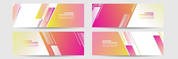 Colore di gradiente di sfondo astratto banner moderno. sfumatura gialla e rosa con decorazione a mezzitoni.