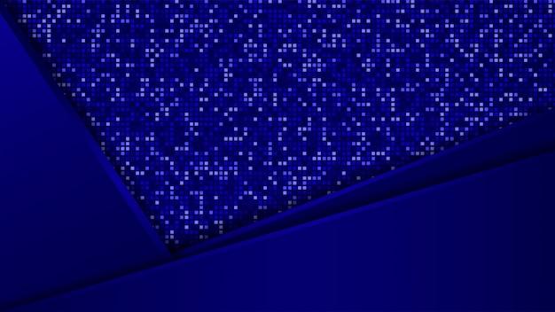 Priorità bassa di sovrapposizione blu moderna astratta di figura
