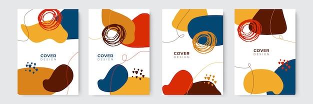 Modelli di copertina colorati moderni astratti