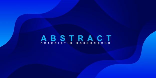 Sfondo astratto moderno colorato sfumato blu curva