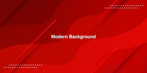 Sfondo astratto moderno colorato sfumato rosso curva